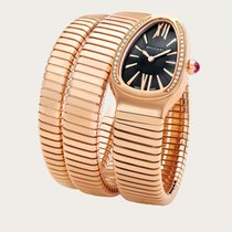 Bulgari Serpenti Rose gold 35mm Black