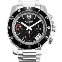 Tudor Grantour Chrono Steel Black No numerals