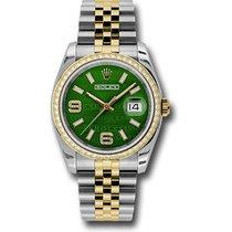 Rolex Datejust Staal 36mm Groen