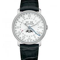 Blancpain Villeret Moonphase neu 2019 Automatik Uhr mit Original-Box und Original-Papieren 6676-1127-55B