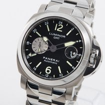Panerai Luminor GMT Automatic Titan 44mm Svart Arabiska