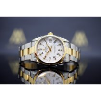 Rolex Oyster Perpetual Date Or/Acier 34mm Blanc