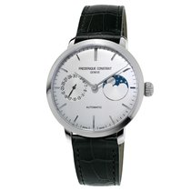 Frederique Constant Slimline Moonphase Steel 38.8mm Silver