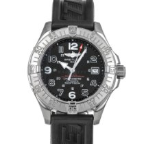 Breitling Superocean pre-owned 42mm Black Date Rubber