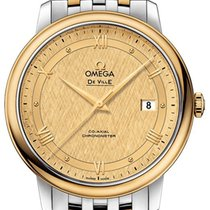 Omega Ceramic Automatic Champagne 39.5mm new De Ville Prestige