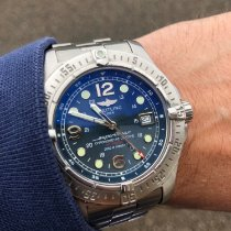 Breitling Superocean Steelfish Stahl 44mm Blau Arabisch
