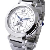 Cartier W31093M7 Pasha with Big Date and Moon Phases - Steel...
