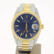 Rolex Oyster Perpetual Date Steel/Gold BlueDial 34mm (BOXonly1...