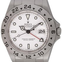 Rolex : Explorer II :  16570 :  Stainless Steel : white dial