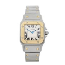 Cartier Santos Galbee Stainless Steel & 18K Yellow Gold Ladies...