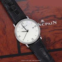 Blancpain Steel Automatic Silver 40mm pre-owned Villeret Ultra-Slim