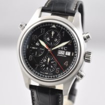 IWC Pilot Double Chronograph pre-owned 42mm Steel
