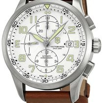 7524eabdc6d Victorinox Swiss Army AirBoss Steel 42mm Silver Arabic numerals United  States of America