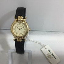 Juvenia Yellow gold 22mm Quartz 11625 new