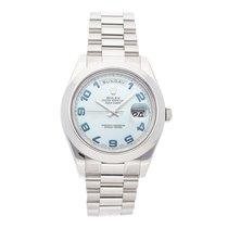 Rolex Day-Date II Platinum 41mm Blue Arabic numerals United States of America, Pennsylvania, Bala Cynwyd