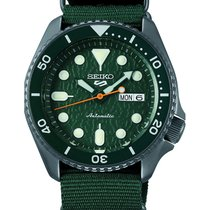 Seiko 5 Sports Steel 43mm Green No numerals