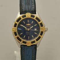 Breitling Lady J Gold/Stahl 31mm Blau Keine Ziffern