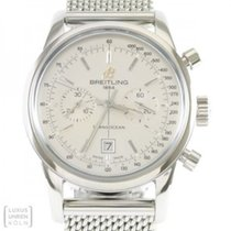 Breitling Transocean Chronograph 38 Steel 38mm Silver