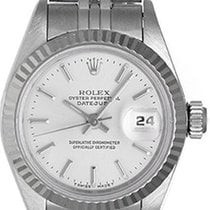 Rolex Ladies Datejust Stainless Steel Watch 69174 Silver Dial