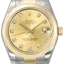Rolex Datejust 31 Edelstahl Gelbgold 178243 Champagner DIA