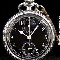 Wakmann Military Pilot's Pocket Watch Chronograph Steel...