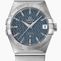 Omega Constellation Men Steel 38mm Blue United States of America, New York, New York City