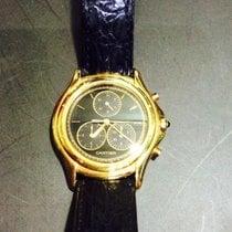 Cartier Cougar Желтое золото 35mm Черный Без цифр