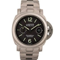 Panerai Luminor Marina Automatic Titan 44mm Svart Arabisk