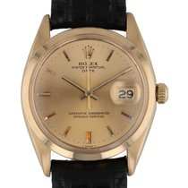 Rolex Oyster Perpetual Date pre-owned 34mm Yellow gold