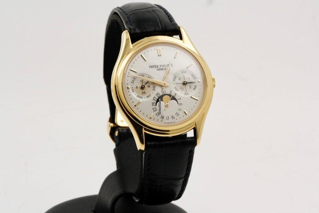 Часы мужские Patek Philippe geneve черный циферблат стальной корпус