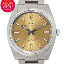 Rolex Oyster Perpetual 34 Acier 34mm Champagne Arabes