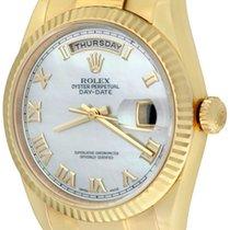 Rolex Day-Date 36 Gelbgold 36mm Perlmutt Römisch