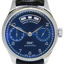 IWC Portuguese Annual Calendar Steel 44.2mm Blue Arabic numerals