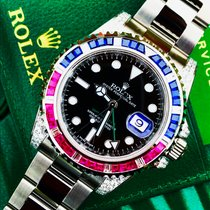 Rolex GMT Master 2 Custom Pepsi Diamonds SARU After set
