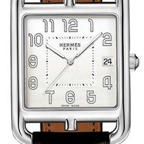Hermès neu Quarz Leuchtzeiger 33mm Stahl