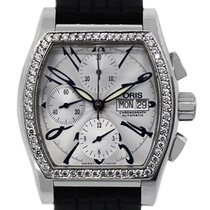 Oris 7532 Miles Tonneau Diamond Bezel Chronograph Mens Watch