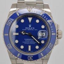 Rolex Submariner Blue Smurf Ceramic Bezel 18kt White Gold