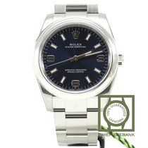 Rolex Oyster Perpetual 34 Steel 34mm Blue Arabic numerals