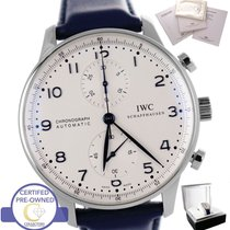 IWC MINT 2010 IWC Portuguese Chronograph Stainless Blue 41mm...