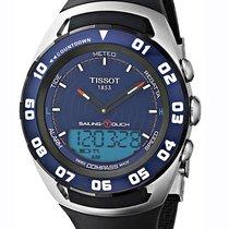 Tissot Sailing-Touch Zeljezo 45mm Plav-modar Bez brojeva