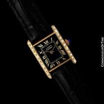 Cartier Tank Vermeil Gold/Steel 21mm Black Roman numerals