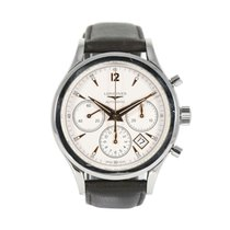 Longines Column-Wheel Chronograph pre-owned 40mm Champagne Leather