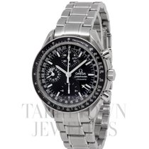 Omega Speedmaster Day Date pre-owned 38mm Black Chronograph Date Weekday Month Tachymeter Steel