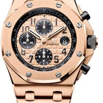 Audemars Piguet Rose gold Automatic Gold Arabic numerals 42mm pre-owned Royal Oak Offshore Chronograph