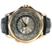 Patek Philippe World Time Rose gold 39.5mm Silver United States of America, California, La Jolla