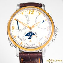 Maurice Lacroix Masterpiece Gold/Stahl 43,50mm Silber