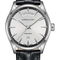 Hamilton Jazzmaster Day Date Auto Staal 42mm Zilver