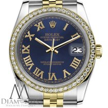 Rolex Datejust Gold/Steel 36mm Blue Roman numerals United States of America, New York, New York