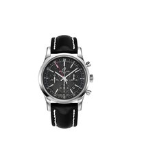 Breitling Transocean Chronograph GMT Steel Black No numerals