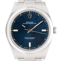 Rolex Oyster Perpetual 39mm Stainless Steel Blue Dial Oyster...